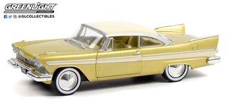 "1:24 1957 Plymouth Belvedere - Desert Gold/White - Tulsa, OK ""Tulsarama"" 1957 Underground Vault"