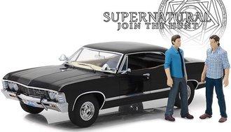 1:18 Artisan - Supernatural (TV Series 2005-) 1967 Chevrolet Impala Sport Sedan w/Sam & Dean Figures