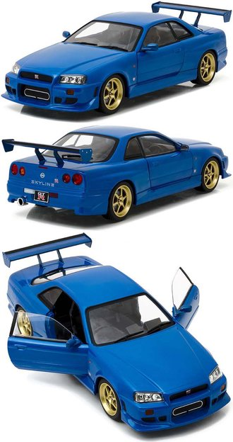 1:18 Artisan Collection - 1:18 1999 Nissan Skyline GT-R (R34) (Bayside Blue)