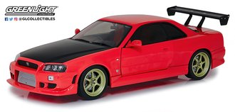 1:18 Artisan Collection - 1999 Nissan Skyline GT-R (R34) (Red w/Neon LED Light Underglow)