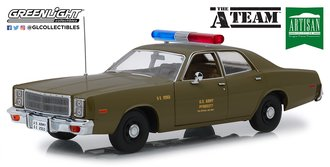 "1:18 Artisan Collection - The A-Team (1983-87 TV Series) - 1977 Plymouth Fury ""U.S. Army Police"""