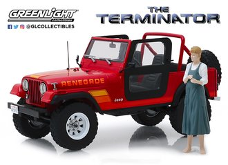 1:18 Artisan - The Terminator (1984) - Sarah Connor's 1983 Jeep CJ-7 Renegade w/Sarah Connor Figure