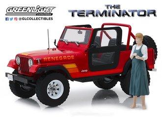 1:18 Artisan - The Terminator (1984) - Sarah Connor's 1983 Jeep CJ-7 Renegade w/Sarah Connor Figure