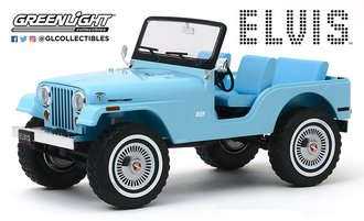 1:18 Artisan Collection - Elvis Presley (1935-77) Jeep CJ-5 (Sierra Blue)
