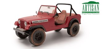 "1:18 Artisan Collection - The A-Team (1983-87 TV Series) - Jeep CJ-5 ""Animal Preserve"""