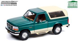 "1:18 Artisan Collection - 1993 Ford Bronco ""Eddie Bauer Edition"" (Emerald Green w/Tan Interior)"