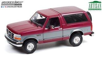 1:18 Artisan Collection - 1996 Ford Bronco XLT (Burgundy & Silver w/Gray Interior)