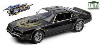 1:18 Artisan Collection - 1977 Pontiac Firebird Trans Am (Starlite Black w/Golden Eagle Hood)