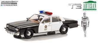 1:18 Terminator 2: Judgment Day 1987 Chevy Caprice Police w/T-1000 Liquid Metal Android Figure