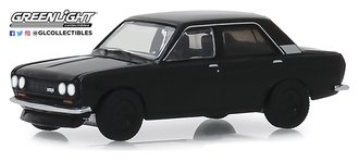 1:64 Black Bandit Series 22 - 1970 Datsun 510 4-Door Sedan