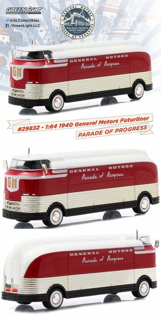 "1:64 1940 GM Futurliner ""Parade of Progress"" (Red/White)"