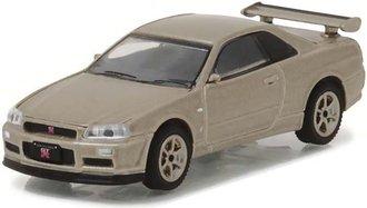 1:64 Tokyo Torque Series 1 - 2001 Nissan Skyline GT-R R34 M-Spec (Silica Breath)