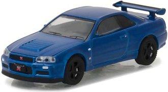 1:64 Tokyo Torque Series 1 - 2002 Nissan Skyline GT-R R34 (Bayside Blue)