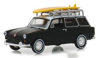 1:64 Club Vee-Dub Series 8 - 1965 Volkswagen Type 3 Squareback - Surf Wagon w/Roof Rack & Surfboard
