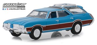 1:64 Estate Wagons Series 3 - 1972 Oldsmobile Vista Cruiser (Viking Blue/Wood Grain)