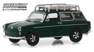 1:64 Estate Wagons Series 4 - 1969 Volkswagen Type 3 Squareback (Dark Green)