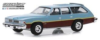 1:64 Estate Wagons Series 4 - 1977 Pontiac LeMans Safari Wagon (Glacier Blue Metallic w/Woodgrain)