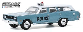 """1:64 Estate Wagons Series 5 - 1970 Plymouth Belvedere Emergency Wagon """"Police Pursuit"""""""