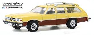 1:64 Estate Wagons Series 5 - 1977 Pontiac Grand LeMans Safari (Goldenrod Yellow w/Woodgrain)