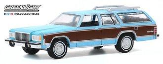 1:64 Estate Wagons Series 5 - 1983 Mercury Grand Marquis Colony Park (Light Cadet Blue Iridescent )
