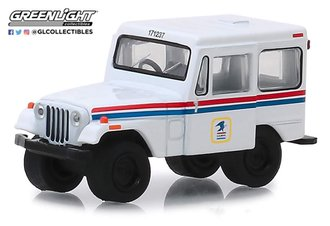 "1:64 1971 Jeep DJ-5 ""United States Postal Service (USPS)"" (White w/Red & Blue Stripes)"