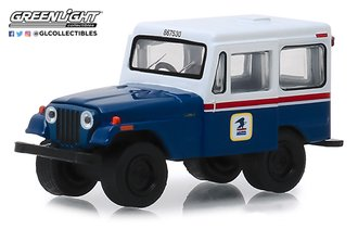 "1:64 1971 Jeep DJ-5 ""United States Postal Service (USPS)"" (Blue w/White Roof)"
