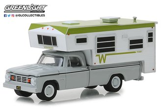 1:64 1966 Dodge D-100 w/Winnebago Slide-In Camper