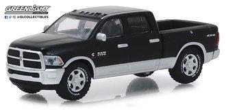 "1:64 2018 RAM 2500 Big Horn Pickup Truck ""Harvest Edition"" (Brilliant Black/Bright Silver)"