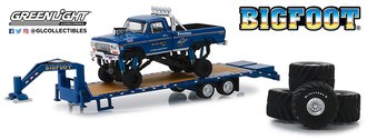 1:64 Bigfoot #1 The Original Monster Truck on Gooseneck Trailer w/Regular Tires & 66-Inch Tires