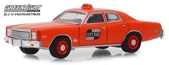 "1:64 1977 Plymouth Fury Binghamton ""NY City Taxi"" (7 Original Miles on Odometer)"