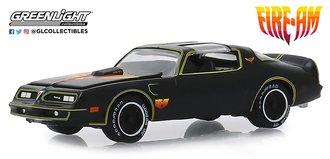 "1:64 1977 Pontiac Firebird ""Fire Am"" by Very Special Equipment (VSE) (Black w/Hood Bird)"