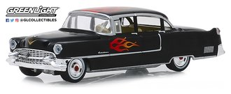 1:64 Flames The Series - 1955 Cadillac Fleetwood Series 60 Special (Black w/Flame)