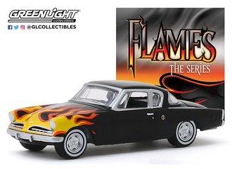 1:64 1954 Studebaker Champion (Black w/Flames)