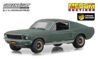 "1:64 Mecum Auctions Collector Cars Unrestored Bullitt 1968 Ford Mustang GT Fastback ""Kissimmee 2020"""