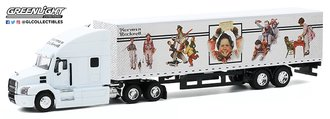 """1:64 2019 Mack Anthem Tractor Trailer """"Norman Rockwell"""""""