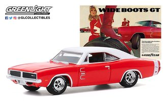 "1:64 1969 Dodge Charger Wide Boots GT ""The low, wide look of action from Goodyear"""
