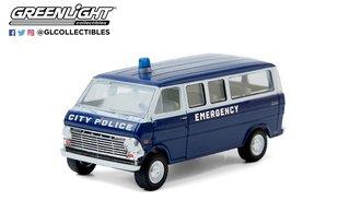 1:64 1969 Ford Club Wagon - City Police Emergency