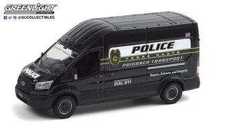 1:64 Hot Pursuit - 2020 Ford Transit LWB High Roof - Terre Haute, Indiana Police Prisoner Transport