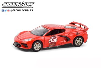 """1:64 2020 Corvette Stingray Coupe """"104th Running of the Indianapolis 500 Official Pace Car"""" (Red)"""