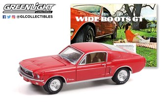 "1:64 Goodyear Vintage Ad Cars - 1968 Ford Mustang - Wide Boots ""Wide Boots GT"""