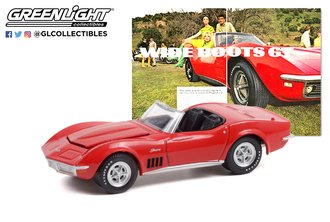 "1:64 Goodyear Vintage Ad Cars - 1969 Chevrolet Corvette - Wide Boots ""Wide Boots GT"""