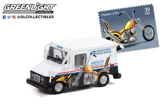 1:64 USPS Long-Life Postal Delivery Vehicle (LLV) - American Motorcycles Collectible Stamps LLV