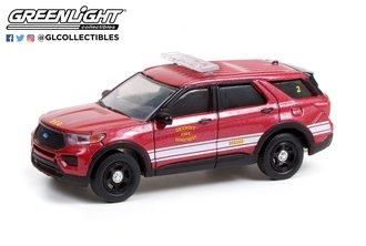 "1:64 Hot Pursuit - 2020 Ford Police Interceptor Utility ""Detroit Fire Department"""
