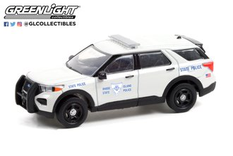 1:64 Hot Pursuit - 2020 Ford Police Interceptor Utility - Rhode Island State Police