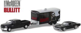 1:64 Hollywood Hitch & Tow Series 2 - Bullitt 2017 RAM 2500 w/1968 Dodge Charger & Car Trailer