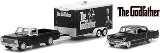 1:64 Hollywood Hitch & Tow Series 3 - The Godfather 1972 C-10 w/1955 Fleetwood 60 in Car Hauler