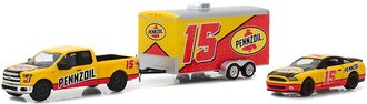 2015 Ford F-150 & 2012 Shelby GT500 Pennzoil w/Enclosed Car Hauler