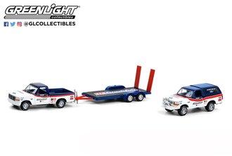 """1:64 1991 Ford F-150 w/Flatbed Trailer & 1991 Ford Bronco """"BFGoodrich Rough Riders"""""""