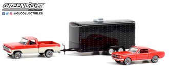 1:64 The Cars That Made America - 1967 Ford F-100 w/1965 Ford Mustang Fastback in Enclosed Hauler