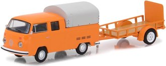 1:64 Hitch & Tow Series 11 - 1978 Volkswagen Double Cab w/Canopy & Utility Trailer